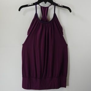 Lululemon Athletica Dark Purple Workout Tank Top